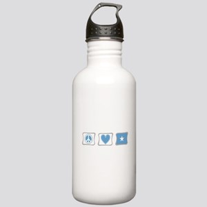 Peace, Love and Somalia Stainless Water Bottle 1.0