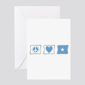 Peace, Love and Somalia Greeting Card