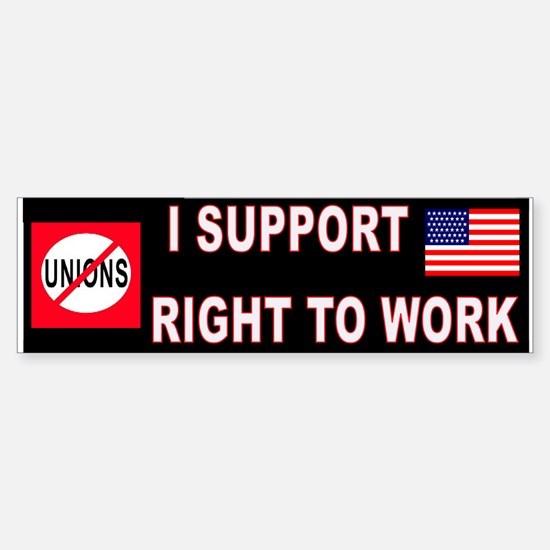ANTI-UNION Sticker (Bumper)