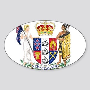 New Zealand Coat Of Arms Sticker (Oval)