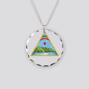 Nicaragua Coat Of Arms Necklace Circle Charm
