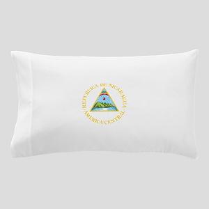 Nicaragua Coat Of Arms Pillow Case