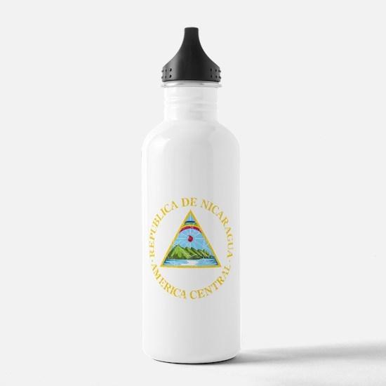 Nicaragua Coat Of Arms Water Bottle