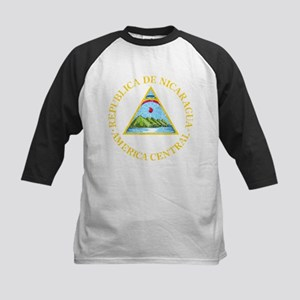 Nicaragua Coat Of Arms Kids Baseball Jersey