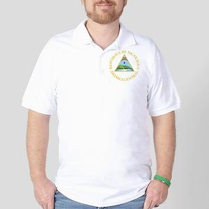 Nicaragua Coat Of Arms Golf Shirt