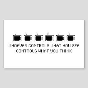 TV Rectangle Sticker