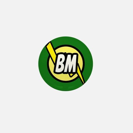 Green Best Man button Mini Button