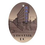 Vancouver Gastown Souvenir Oval Ornament