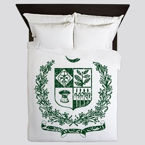 Pakistan Coat Of Arms Queen Duvet
