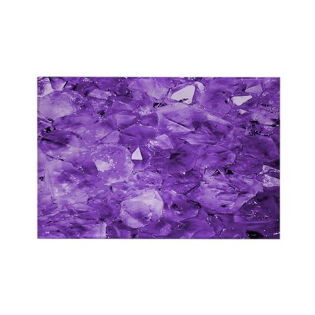 Amethyst crystals Rectangle Magnet