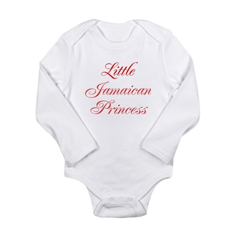 Little Jamaican Princess Long Sleeve Infant Bodysu