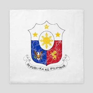 Philippines Coat Of Arms Queen Duvet