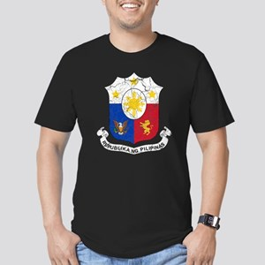 Philippines Coat Of Arms Men's Fitted T-Shirt (dar