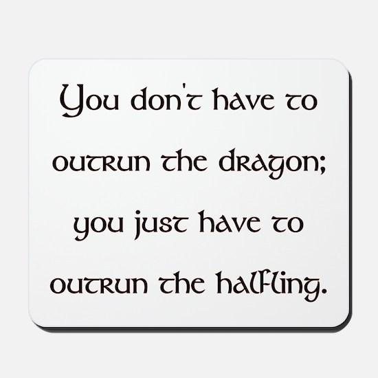 Outrun The Dragon Mousepad
