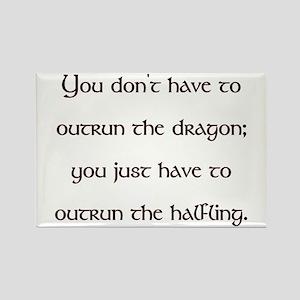 Outrun The Dragon Rectangle Magnet