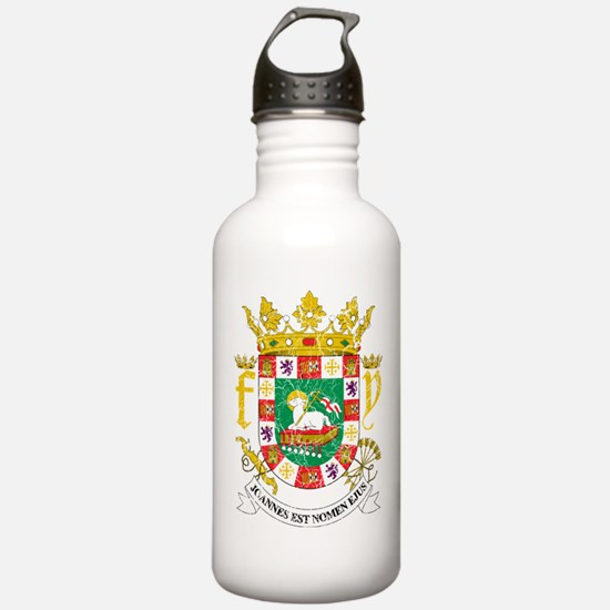 Puerto Rico Coat Of Arms Water Bottle