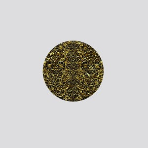 DAMASK2 BLACK MARBLE & GOLD FOIL (R) Mini Button