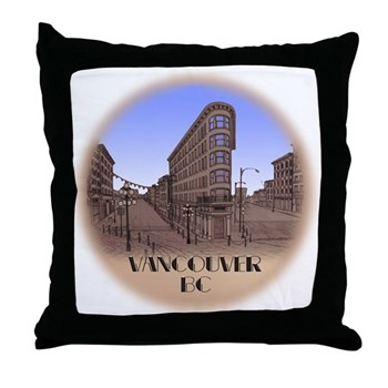 Vancouver Gastown Souvenir Throw Pillow