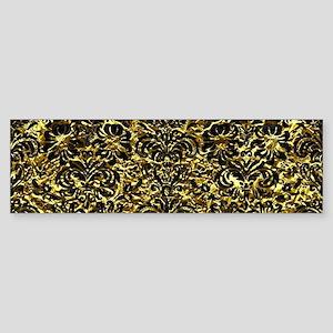 DAMASK2 BLACK MARBLE & GOLD FOIL Sticker (Bumper)