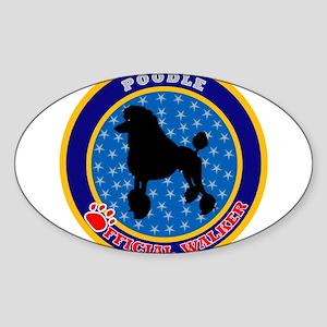 Poodle Standard Oval Sticker