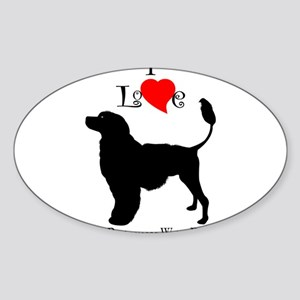 Portuguese Water Dog Oval Sticker