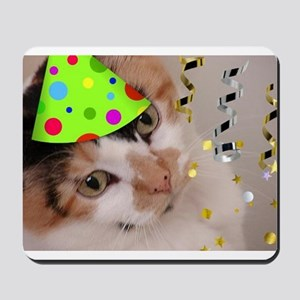 Calico Cat Birthday Party Mousepad