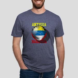 Antigua Barbuda Soccer Mens Tri-blend T-Shirt