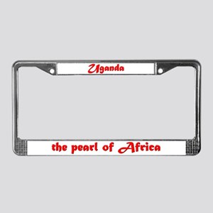 Pearl of Africa License Plate Frame