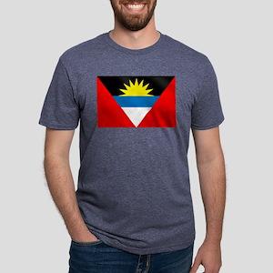 Antigua and Barbuda Flag Mens Tri-blend T-Shirt