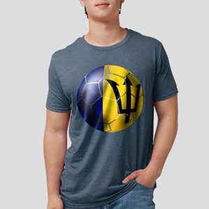 Barbados Football Mens Tri-blend T-Shirt