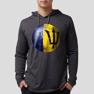 Barbados Football Mens Hooded Shirt