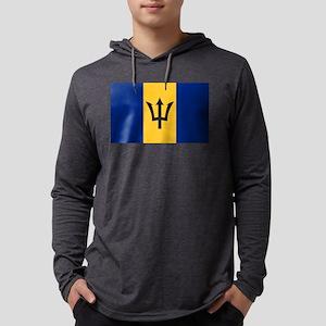 Barbados Flag Mens Hooded Shirt