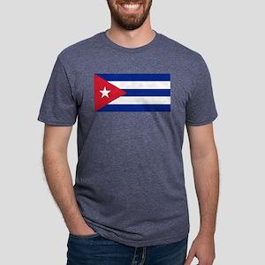Flag of Cuba Mens Tri-blend T-Shirt