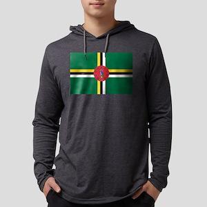 Flag of Dominica Mens Hooded Shirt