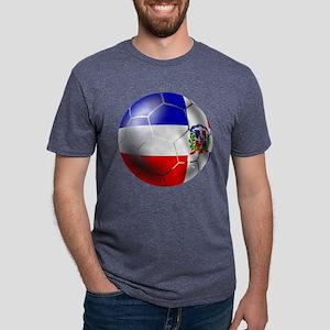 Dominican Republic Football Mens Tri-blend T-Shirt