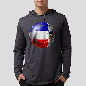 Dominican Republic Football Mens Hooded Shirt