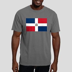 Dominican Republic Flag Mens Comfort Colors Shirt