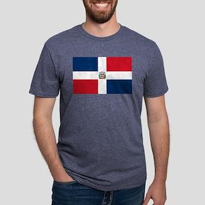 Dominican Republic Flag Mens Tri-blend T-Shirt