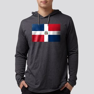 Dominican Republic Flag Mens Hooded Shirt