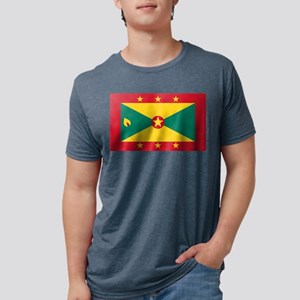 Flag of Grenada Mens Tri-blend T-Shirt