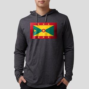 Flag of Grenada Mens Hooded Shirt