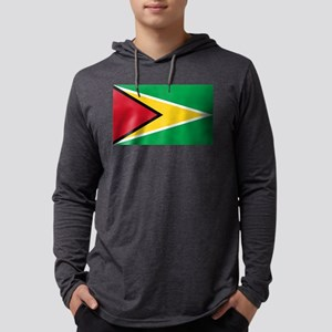 Flag of Guyana Mens Hooded Shirt