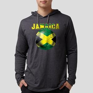Jamaican Football Mens Hooded Shirt