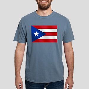 Flag of Puerto Rico Mens Comfort Colors Shirt