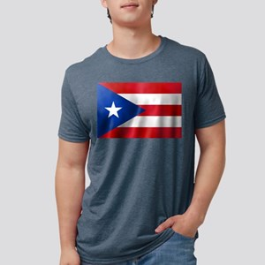 Flag of Puerto Rico Mens Tri-blend T-Shirt
