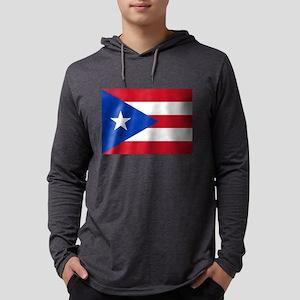 Flag of Puerto Rico Mens Hooded Shirt