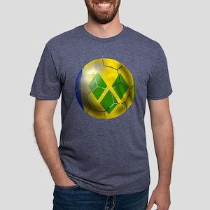 Saint Vincent Soccer Ball Mens Tri-blend T-Shirt