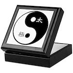 Keepsake Box taichi and yinyang symbol