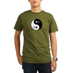 Organic Men's T-Shirt (dark) taichi and yinyang sy
