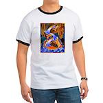 Art Shirt - 'Fish Ladder' Ringer T
